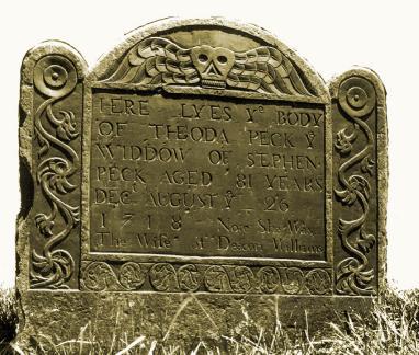 Gravestone of Theoda Parke