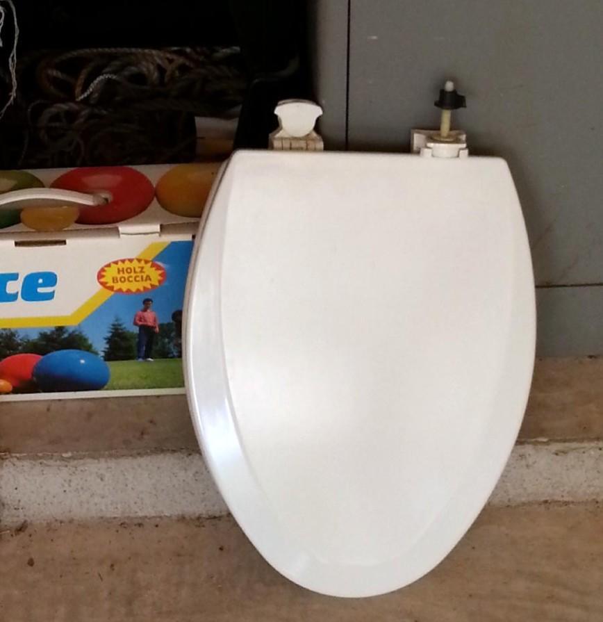 old toilet seat