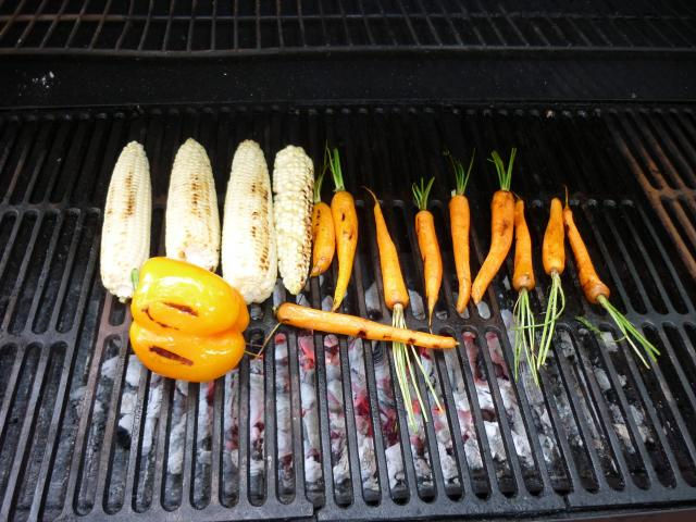 corn and carrots