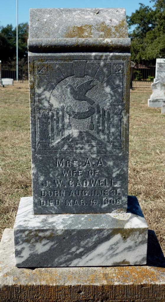 Gravestone of Aletha Ann Jeffers Cadwell Banta