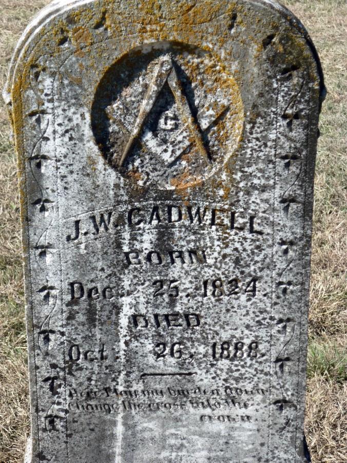 Gravestone of John Wesley Cadwell Sr