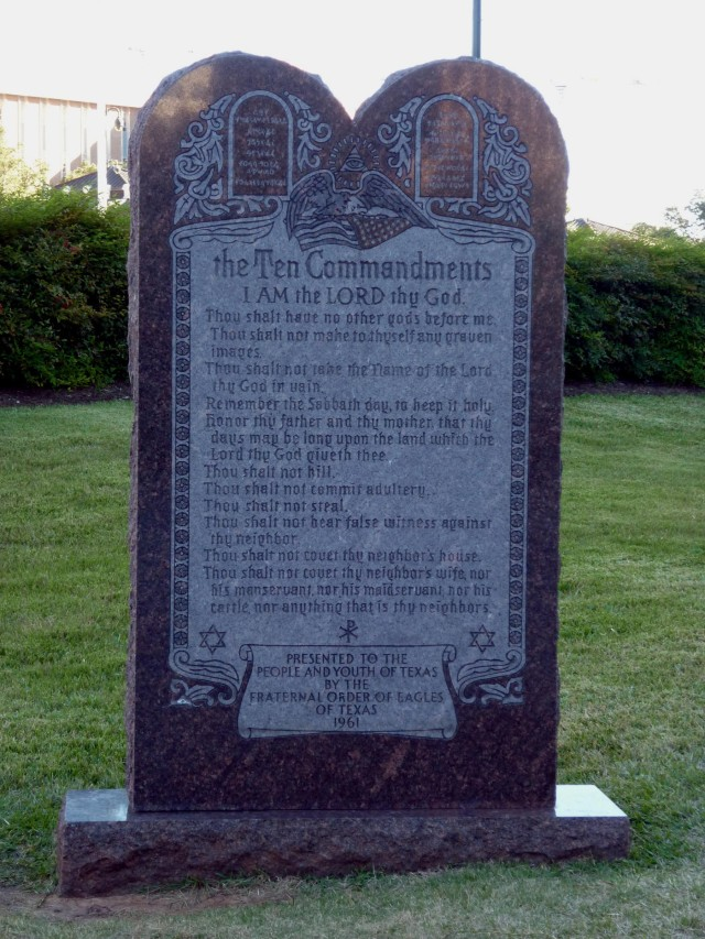 Ten Commandments Texas Capitol Grounds - Nov 14