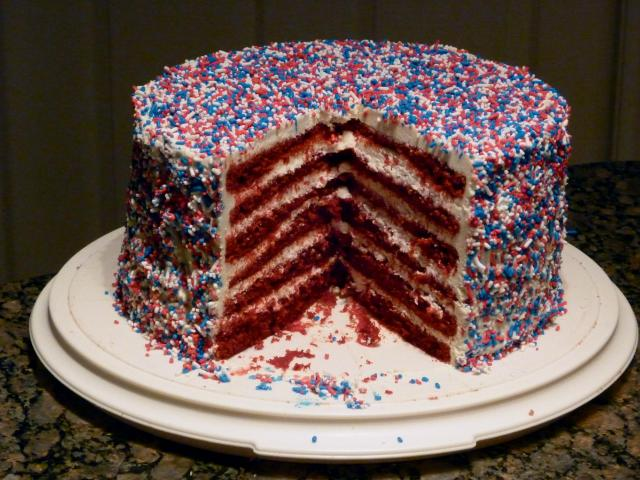 Fourth-of-July Cake Cut