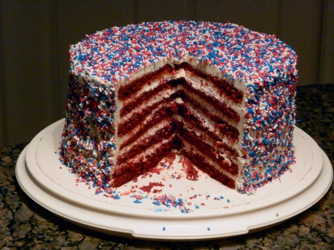 Fourth-of-July Cake Cut