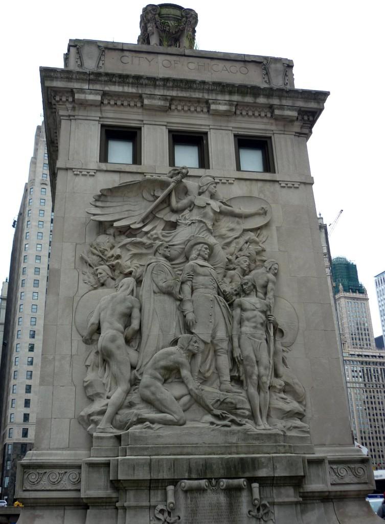 Pediment - Michigan Avenue Bridge - Chicago, Illinois - July 2015
