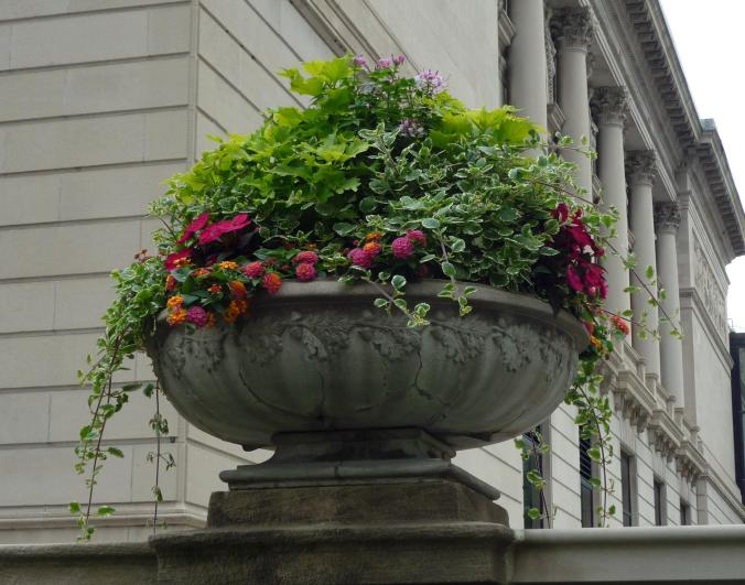 Stone Planter - Michigan Avenue - Chicago, Illinois - July 2015