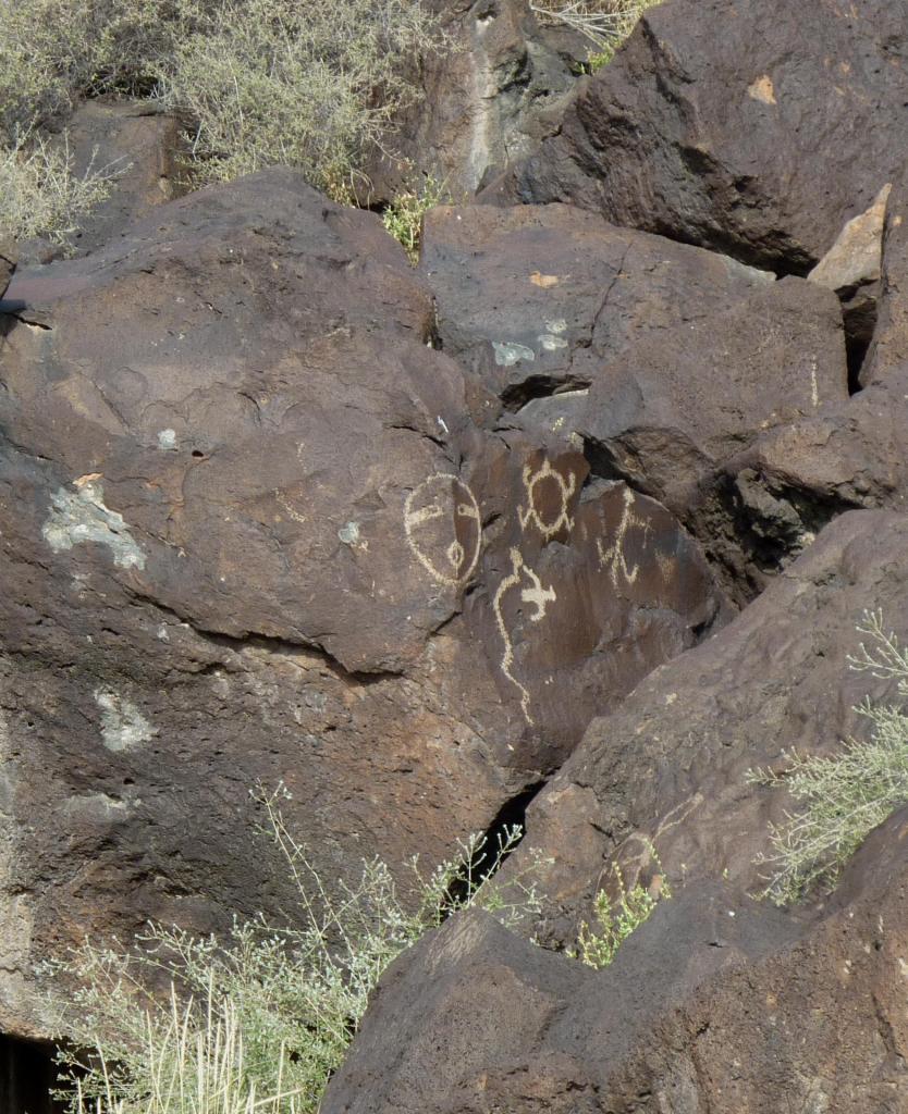 3-D Petroglyph - Petroglyph National Monument - Albuquerque NM - October 2015