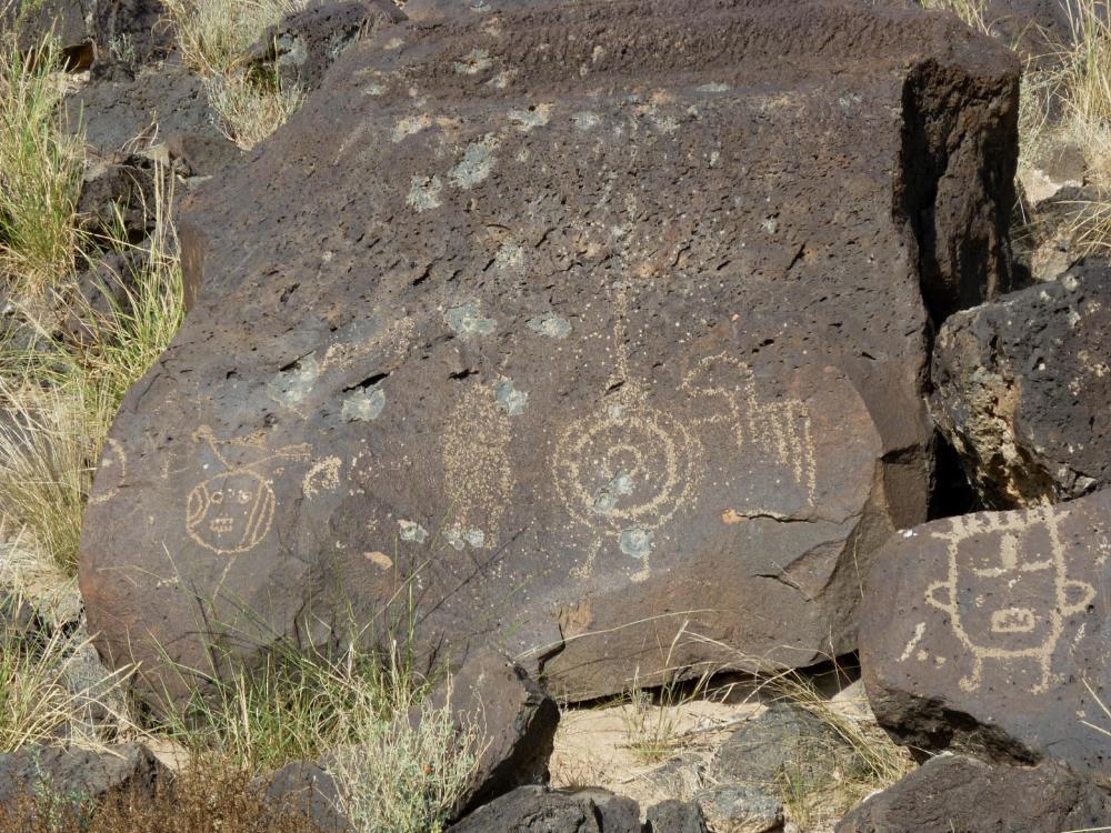 Fantastical Figures - Petroglyph National Monument - Albuquerque NM - October 2015