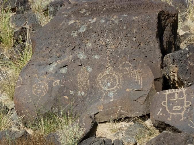 Fantastical Figures - Petroglyph National Monument - Albuquerque NM - October 2015