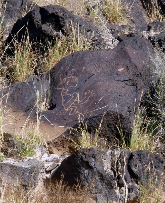 Shamanic Petroglyph - Petroglyph National Monument - Albuquerque NM - October 2015